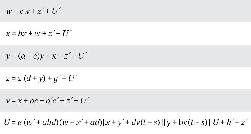 Ci-dessus, quelques équations de Claude Shannon sur la théorie de l'information.