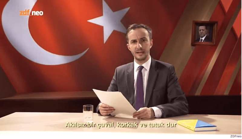 Une synthèse de l'affaire du clip anti-erdogan par le satiriste Jan Böhmermann