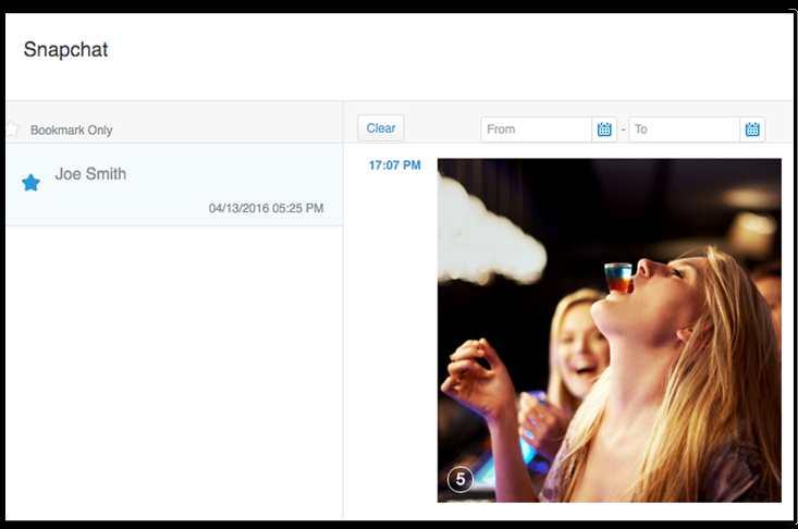 L'application mSpy permet d'espionner systématiquement ses enfants. Un exemple d'une publication sur Snapchat capturée par l'application