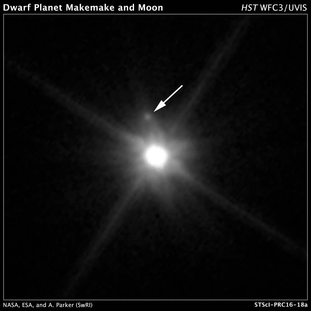 Le téléscope Hubble découvre une lune autour de la planète Makémaké