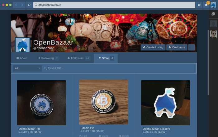 OpenBazaar est une plateforme de commerce en ligne basé sur le pair-à-pair et le Bitcoin