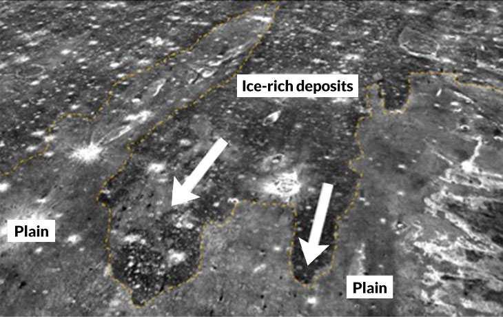 Une image thermique du reste d'un ancien tsunami sur Mars (La partie sombre)
