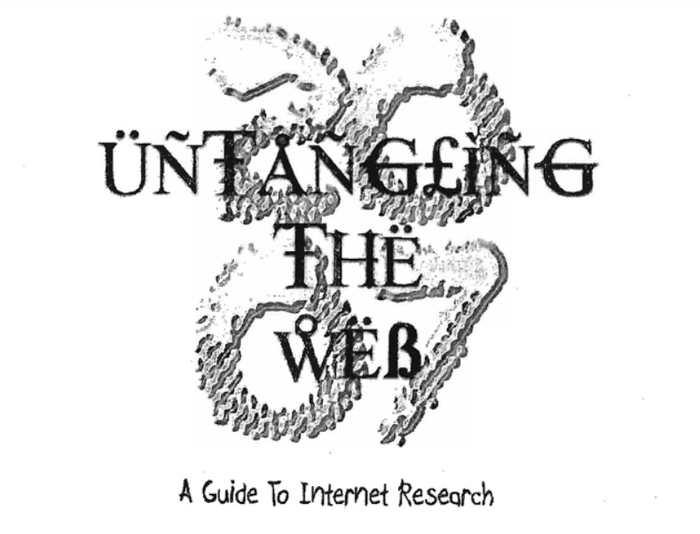 La NSA nous propose un guide appelé Untangling the Web qui vous apprend comment utiliser internet. Coeurs sensibles, s'abstenir !