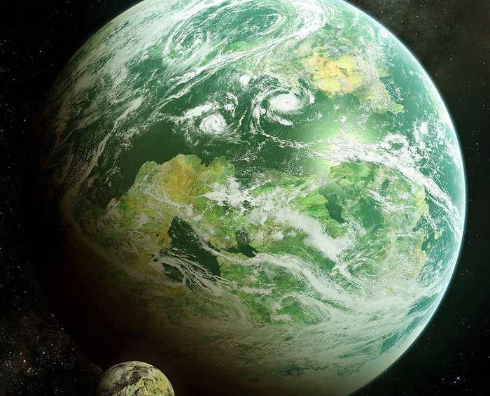 Vue artistique de Kepler 22b, une exoplanète très proche de la Terre découverte par le télescope Kepler