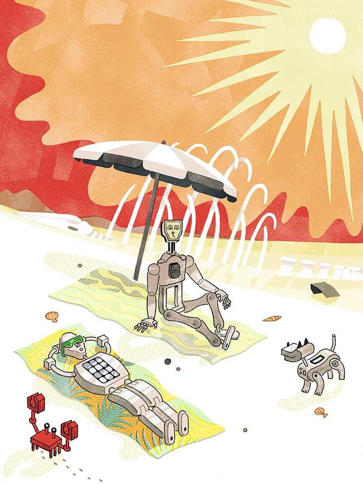 Devenir des robots pour échapper à l'apocalypse sur Terre provoquée par le soleil.