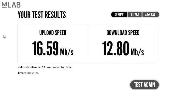 Google propose son propre test pour mesurer la vitesse de votre connexion internet