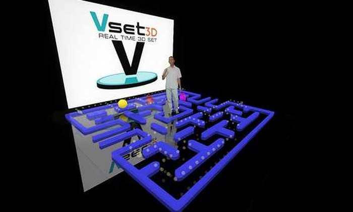 Vset3D est un logiciel qui utilise des fonds verts pour avoir des décors virtuels