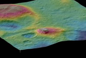 Les images de la sonde Dawn révèlent des signes d'une géologie complexe sur la planète naine Cérès qui a crée Ahuna Mons, un gigantesque volcan de glace.