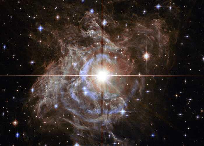 L'étoile RS Puppis, utilisée comme une chandelle cosmique pour mesurer l'expansion de l'univers