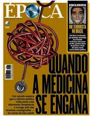 La une du magazine Epoca qui montre Adlène Hicheur comme un terroriste