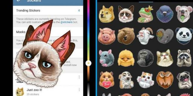 Telegram 3.12 : Les masques, création de GIF et nouvel éditeur de photos
