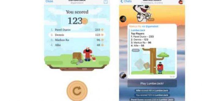 Telegram 3.13 : Des jeux en HTML5