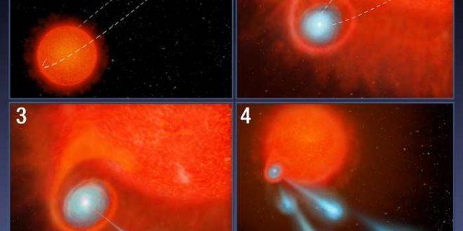 Hubble détecte d'énormes «boulets de canon» de gaz d'une étoile