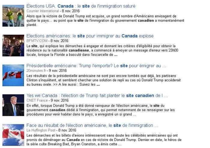 Un bon Hoax est un mélange de petites vérités et de gros mensonges. Les rumeurs ont circulé sur le fait que le site canadien de l'immigration est tombé en panne après avoir reçu 10 millions de demandes provenant d'Américains. Il y a eu une petite hausse de demandes, mais 10 millions ? Sérieusement ?