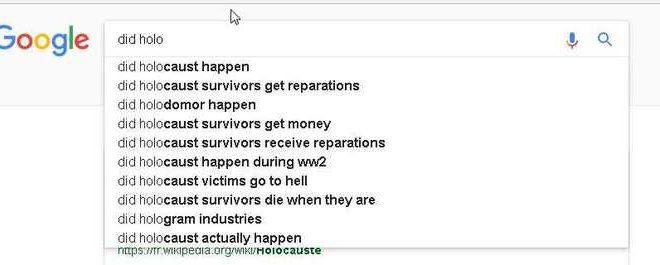 Google et le négationnisme de l'Holocauste