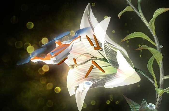 Des chercheurs proposent un gel qu'on peut appliquer sur des drones de la taille d'un insecte pour les transformer en pollinisateurs artificiels. Un potentiel intéressant pour soulager le poids de l'agriculture sur les pollinisateurs naturels.