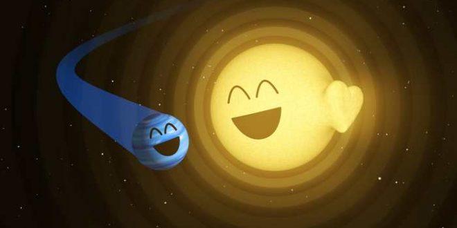 """Quand une planète provoque un """"battement de coeur"""" sur une étoile"""