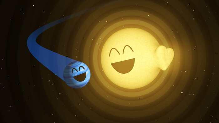 Une planète et une étoile vivent une romance plutôt tumultueuse qu'on peut détecter à plus de 370 années-lumières.