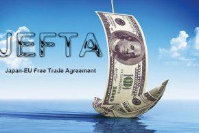 Alors que le destin du TAFTA et du TPP est incertain, l'Union européenne ne baisse pas les bras, car depuis 2013, elle négocie un autre traité de libre-échange appelé JEFTA avec le Japon. Les mécanismes d'arbitrage sont au menu.