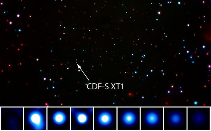 Un flash mystérieux en rayon X a été découvert par le Chandra X-ray Observatory de la NASA. La source provient d'un cataclysme cosmique, mais les scientifiques n'arrivent pas encore à déterminer l'origine exacte.
