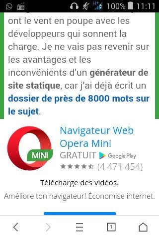 Google Weblight affiche des publicités Adsense à l'insu du site