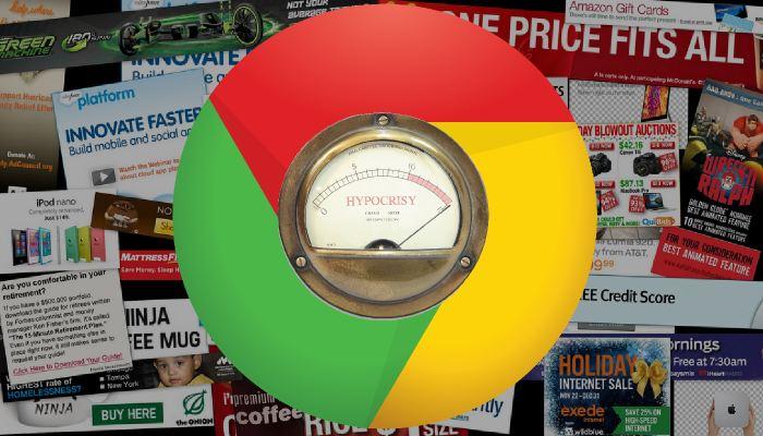 Non, le titre n'a pas d'erreur. Le Wall Street Journal rapporte que Chrome permettrait de bloquer les publicités dans le futur. Hypocrisie, quand tu nous tiens !