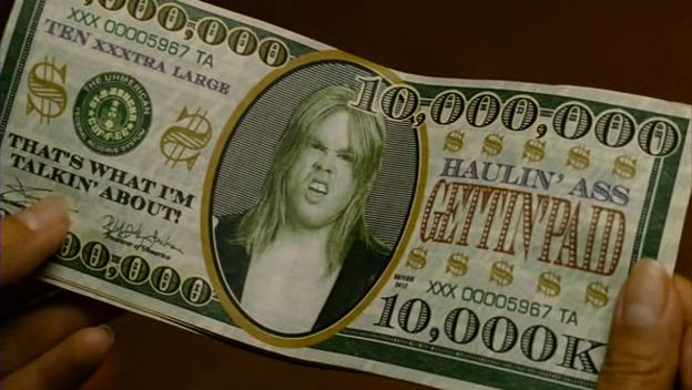 Le billet du dollar dans Idiocracy