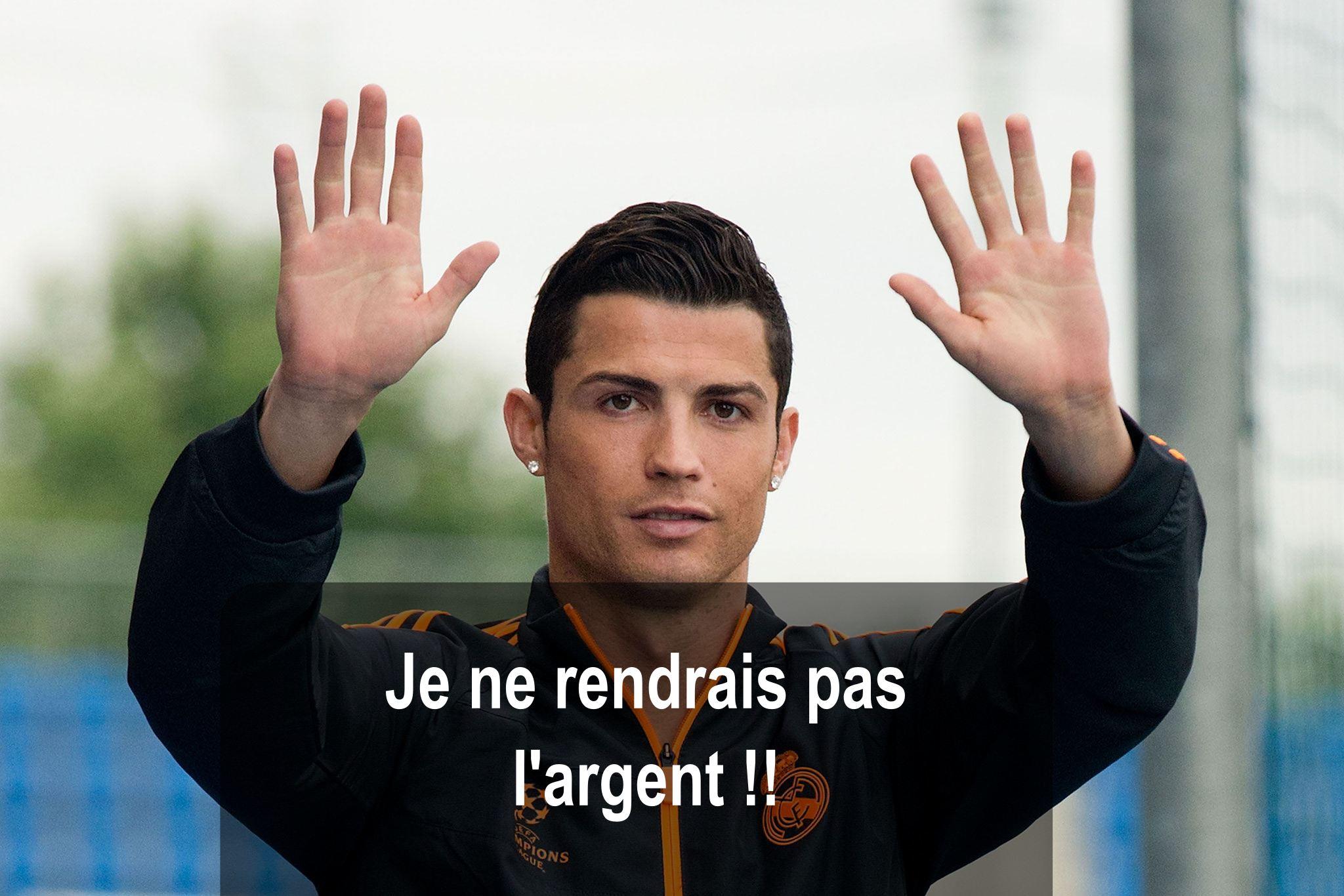 Cristiano Ronaldo rejoint le Racing Club Luxembourg pour éviter de payer ses impots à l'Espagne