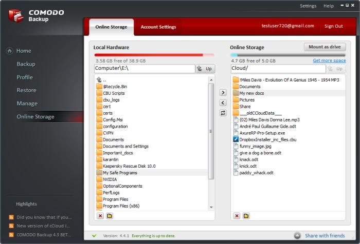 Comodo BackUp est un des meilleurs logiciels de sauvegarde gratuit sur le marché.