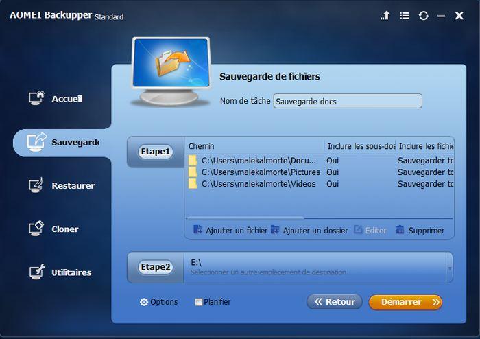 AOMEI Backupper Standard est un des meilleurs logiciels de sauvegarde gratuit sur le marché.