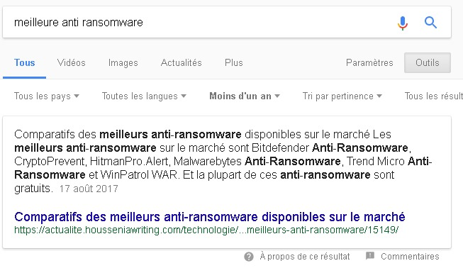 comment apparaitre dans un featured snippet de Google