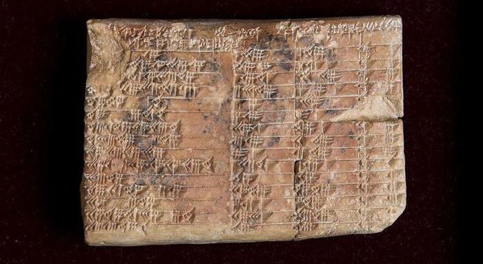 La tablette babylonienne - Plimpton 322 qui montre une table trigonométrique - Crédit : UNSW/Andrew Kelly