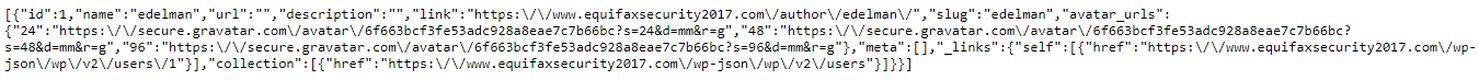 Un site d'Equifax avec une base de données facilement accessible montrant le nom d'utilisateur - Crédit : krebsonsecurity.com