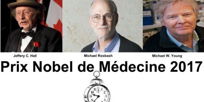Prix Nobel de Médecine 2017 pour les rythmes circadiens (Jeffery C. Hall, Michael Rosbash et Michael W)