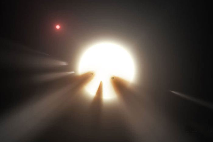 2 études tentent d'expliquer les comportements étranges de l'étoile de Tabby (KIC 8462852). La première, effectuée par les instruments de la NASA, estime que la poussière est sans doute responsable de la baisse de luminosité de l'étoile sur le long terme. La seconde étude renforce le mystère, car elle estime qu'en plus de la baisse, l'étoile KIC 8462852 a subi également des augmentations dans sa luminosité.