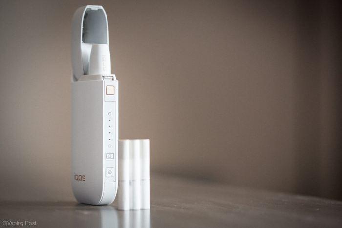 Le modèle Heat-not-burn IQOS de Philips Morris - Crédit : vapingpost.com