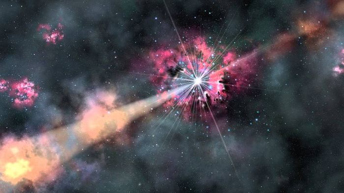 La fusion d'étoiles à neutron à l'origine des sursauts gamma