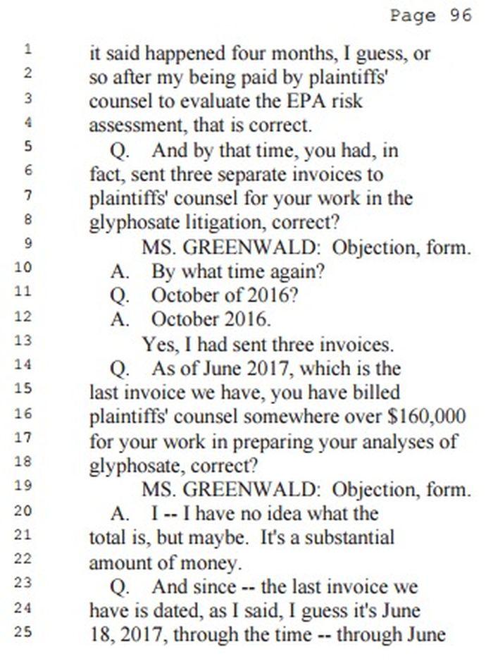 """L'un des points forts des Portiers Papers. Christopher Portier a reçu 160 000 dollars pour son travail avec la firme juridique, qui attaquait Monsanto, tout en prétendant être """"indépendant"""" sur son rapport sur le glyphosate"""