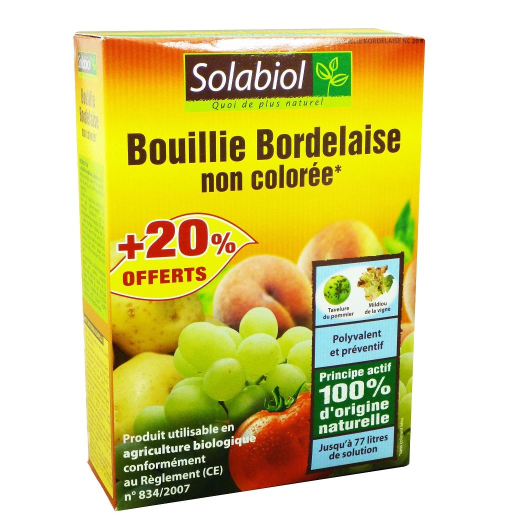 La bouillie bordelaise, un pesticide bio. 100 % naturel, mais beaucoup plus toxique que le glyphosate.