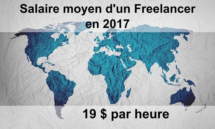 En 2017, un Freelance gagne un salaire de 19 dollars par heure