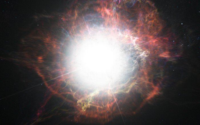 Une illustration d'artiste d'une Supernova - Crédit : ESO/M. Kornmesser
