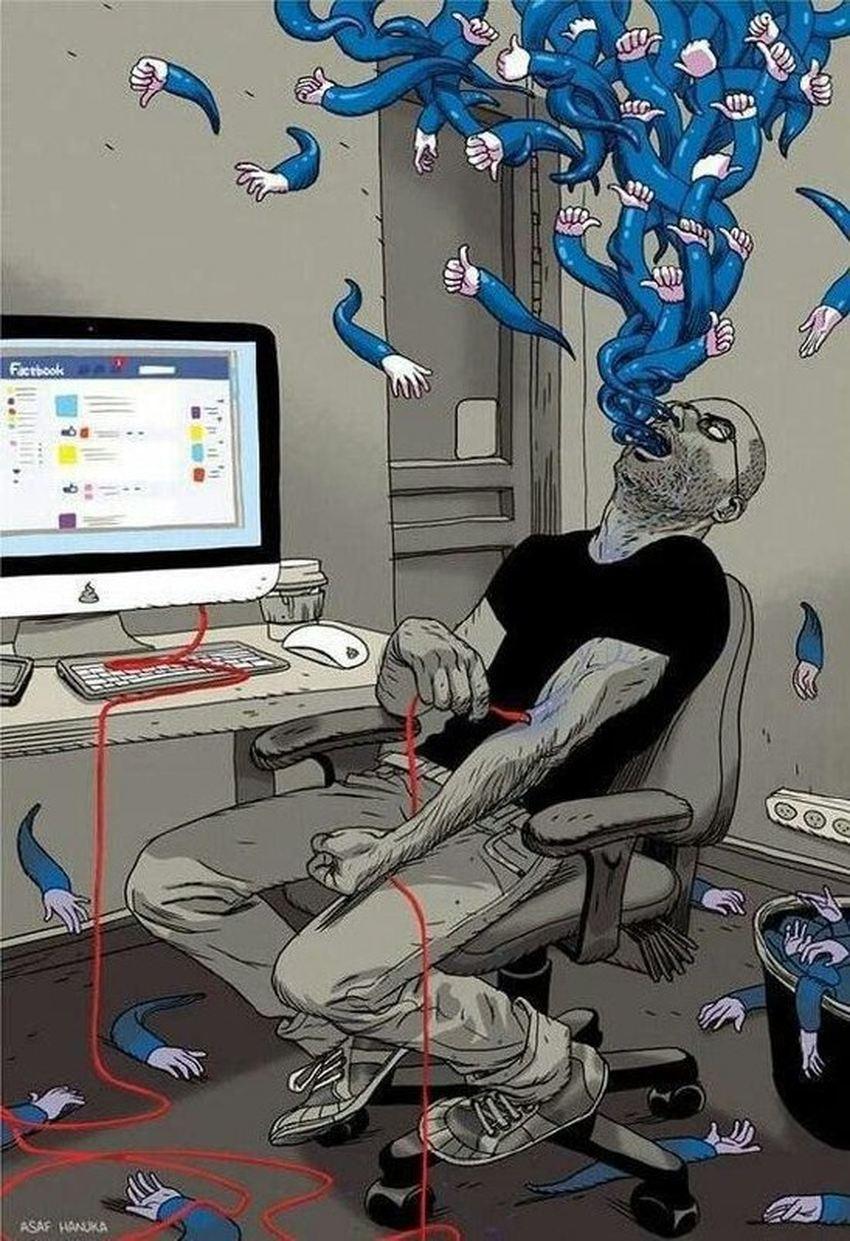 Les médias sociaux permettent de communiquer et de partager. Mais les algorithmes augmentent la tendance de partager l'étrange et l'inhabituel sous toutes formes. Une simple étude concerne le partage d'images de nourriture montre que cette tendance provoque la création de communautés extrémistes dans tous les domaines.