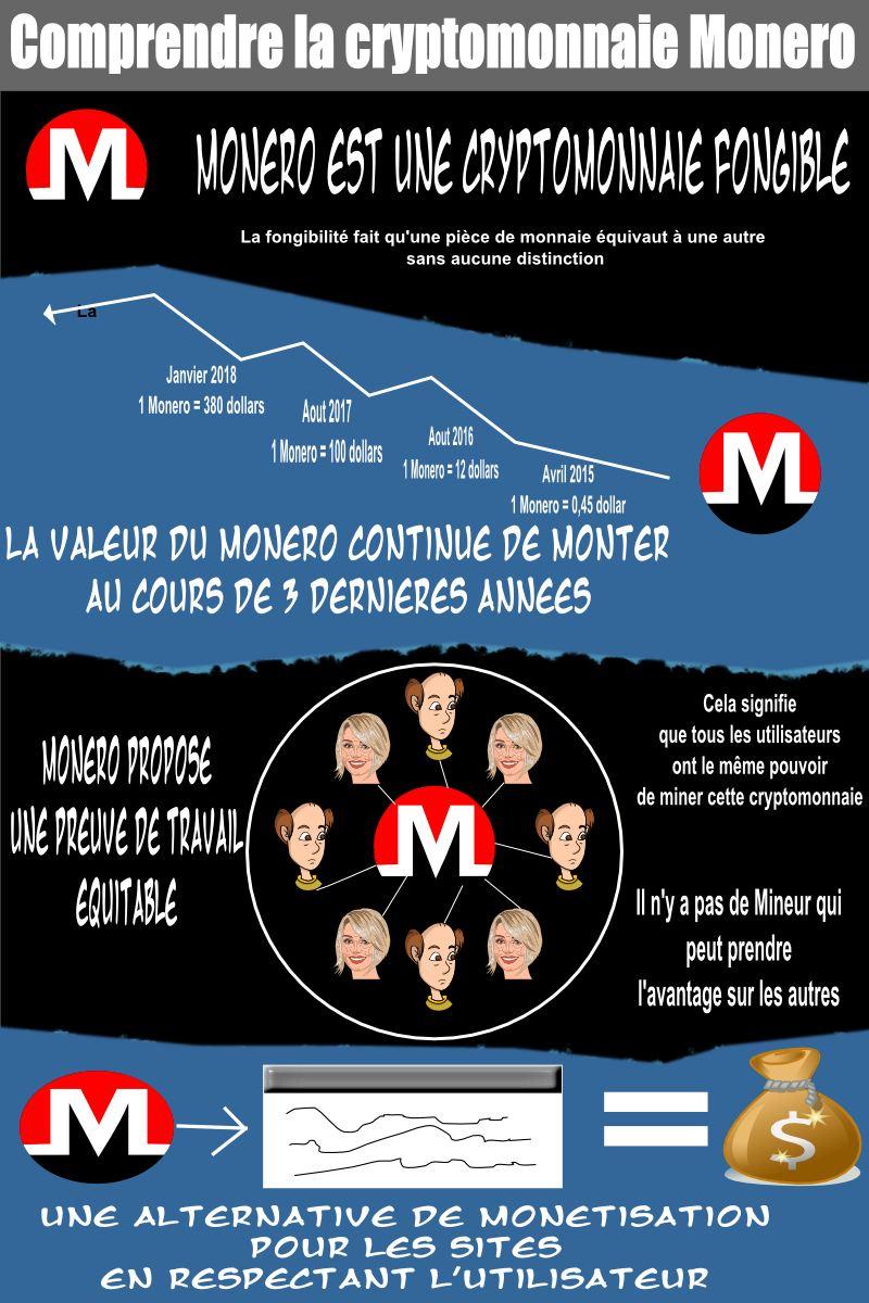 Une infographie pour comprendre les caractéristiques de la cryptomonnaie Monero