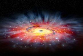 Les astronomes ont découvert des corrélations entre la masse d'un trou noir supermassif au centre d'une galaxie et l'histoire de la formation d'étoiles. Les grandes galaxies, ayant des trous noirs plus grands, ont tendance à arrêter plus rapidement leur formation d'étoiles.