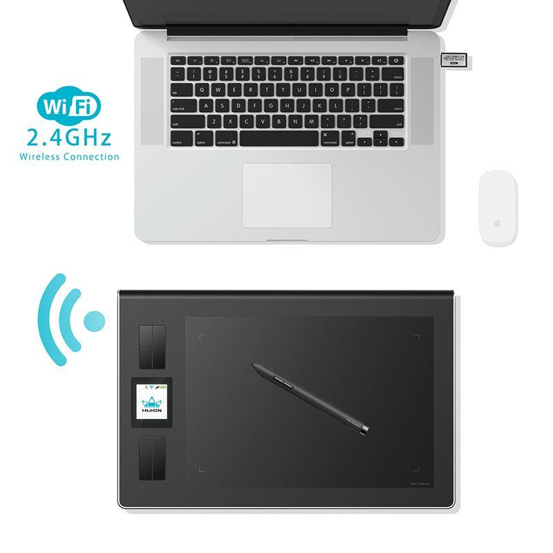 La tablette graphique HUION DWH69 est un excellent modèle moyen de gamme avec une portée sans-fil par le Wifi. Mais les modalités de livraison sont trop chers pour de nombreux pays, mais la performance de l'HUION DWH69 est vraiment excellente.
