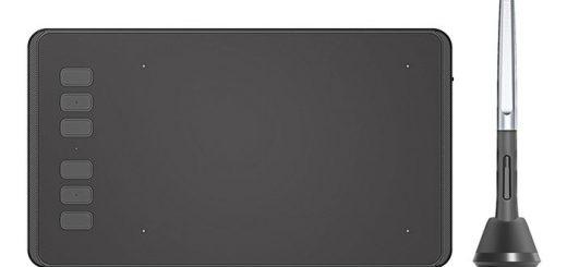 La tablette graphique HUION H640P est vraiment un modèle intéressant avec son stylet sans batterie, sa dimension très compact et son poids ultra-léger. Malgré une taille mini, les performances sont plutôt maximales avec un prix inférieur à 45 euros.