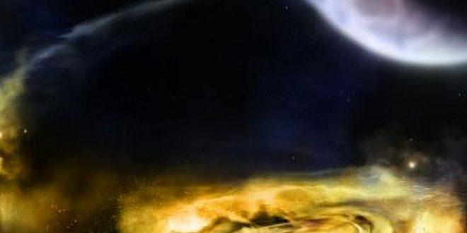 Illustration d'artiste des vents autour d'un trou noir - Crédit : NASA/Swift/A. Simonnet, Sonoma State University