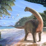Une illustration d'artiste de Mansourasaurus shahinae - Crédit : Andrew McAfee, Carnegie Museum of Natural History