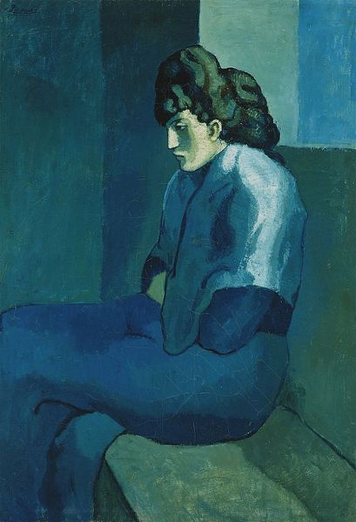 Femme Assise de Pablo Picasso (1902) - Crédit : Wikimedia Commons