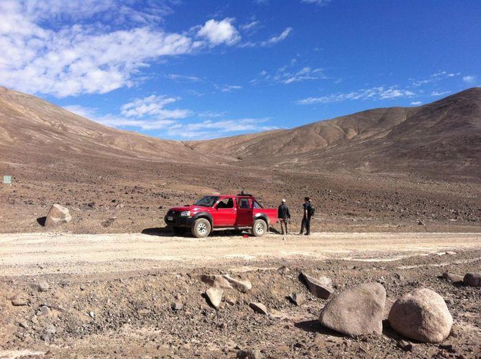 Le site Lomas Bayas où on a pris les échantillons dans l'Atacama - Crédit : Dirk Schulze-Makuch, TU Berlin